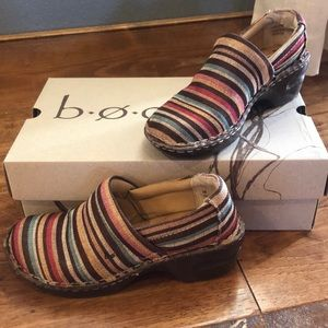 🎈 FuN slip on multi- colored striped shoe